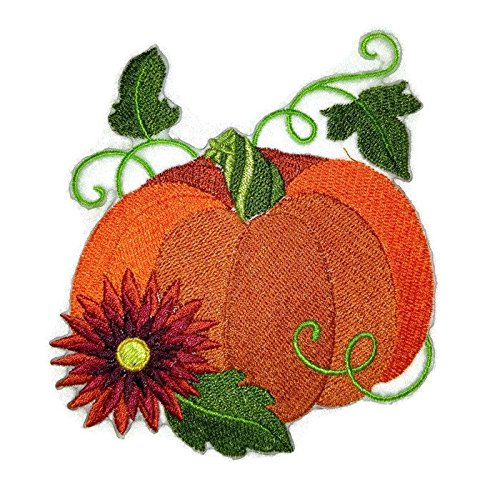 BeyondVision Custom And Unique Autumn Elegance Pumpkin Embroidered Iron on/Sew patch [3.51