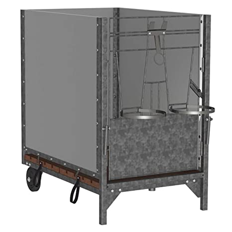 Kerbl terneros cabaña terneros Box, longitud: 120 cm