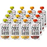 Once Upon a Farm Organic, Cold Pressed, Refrigerated Stage 1 Baby Food, Variety Pack, for 5+ Month, 3.2 Ounce (Pack of 16)