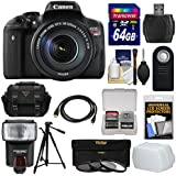 Canon EOS Rebel T6i Wi-Fi Digital SLR Camera & EF-S 18-135mm is STM Lens 64GB Card + Case + Tripod + Flash + 3 Filters + HDMI Cable + Kit