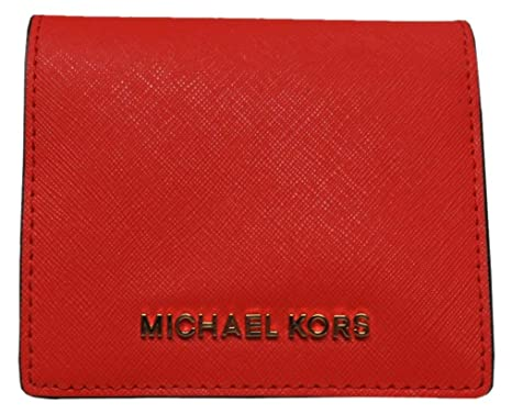 43f3881ae46c Image Unavailable. Image not available for. Color  Michael Kors Jet Set  Travel Leather Carryall Card Case Wallet ...