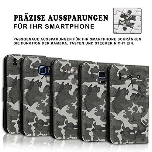 Wallet Book Style Flip Handy Tasche Case Schutz Hülle Schale Motiv Etui für Apple iPhone 6 Plus / 6S Plus - Design Flip MV270