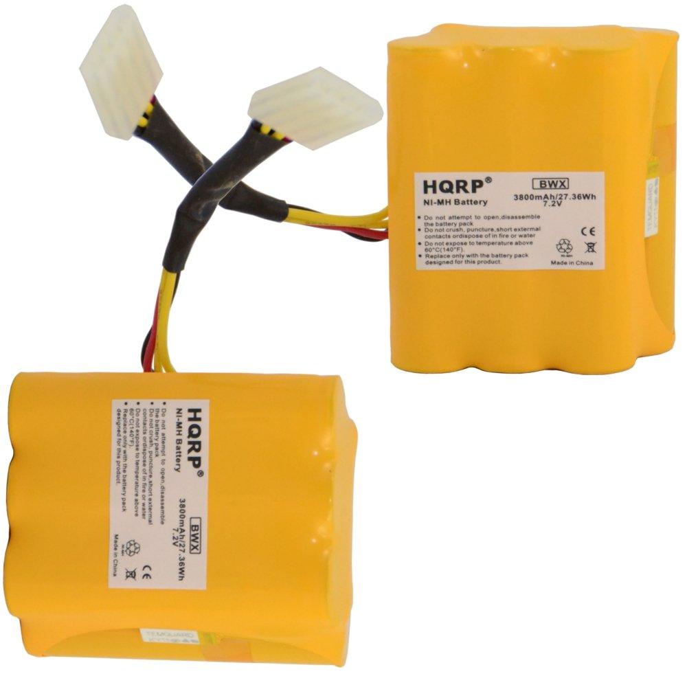 HQRP 3800mAh Super Extended Battery 2-Pack for Neato XV-25 XV-21 XV-15 XV-14 XV-12 XV-11 XV Signature Pro 945-0005 205-0001 945-0006 945-0024 All-Floor Robotic Vacuum Extra High Capacity + Coaster