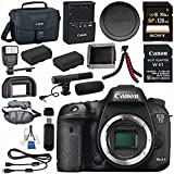 Canon EOS 7D Mark II DSLR Camera 9128B002 + Canon W-E1 Wi-Fi Adapter + LPE-6 Lithium Ion Battery + Sony 128GB SDXC Card + Flexible Tripod + Universal Slave Flash unit + Lens Cleaning Kit Bundle