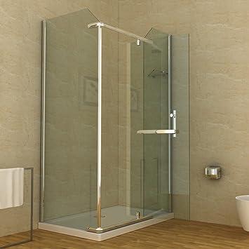 Mampara de ducha plato de ducha 120 x 80 cm: Amazon.es: Bricolaje y herramientas