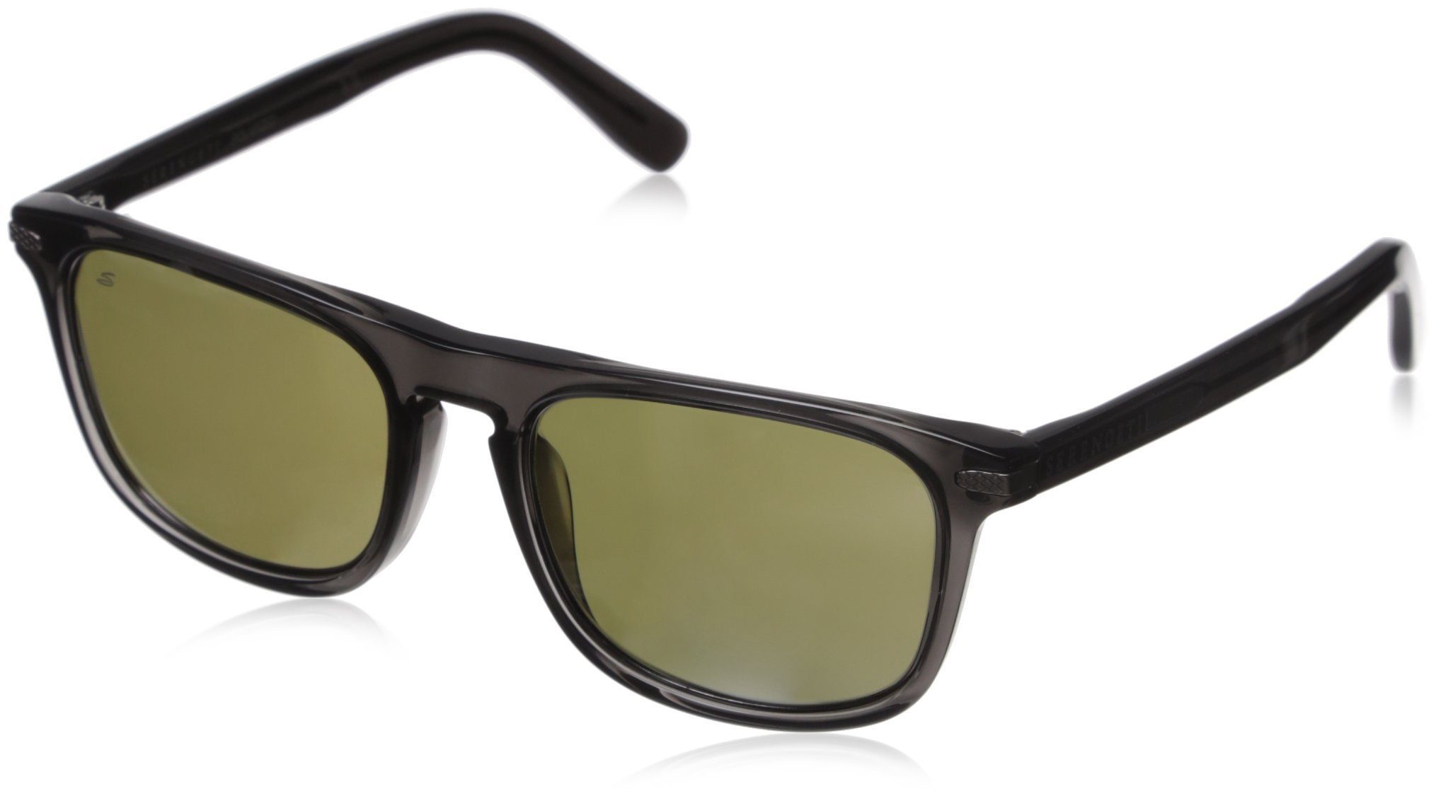 Serengeti 8157 Leonardo Sunglass, Dark Crystal Gray Frame, Polarized 555nm Lens