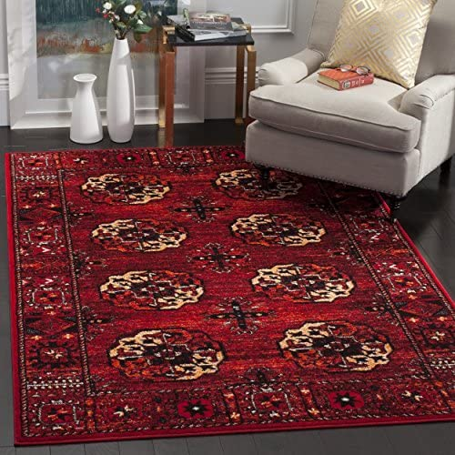 Safavieh Vintage Hamadan Collection VTH212A Antiqued Oriental Red and Multi Area Rug 9 x 12