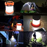 ThorFire LED Camping Lantern Hand Crank USB Rechargeable Lantern Mini Flashlight Emergency Torch Light Tent Lamp CL01 for Camping Hiking Jogging