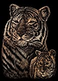 Royal Brush Mini Copper Foil Engraving Art Kit, 5 by 7-Inch, Tiger and Cub by ROYAL BRUSH