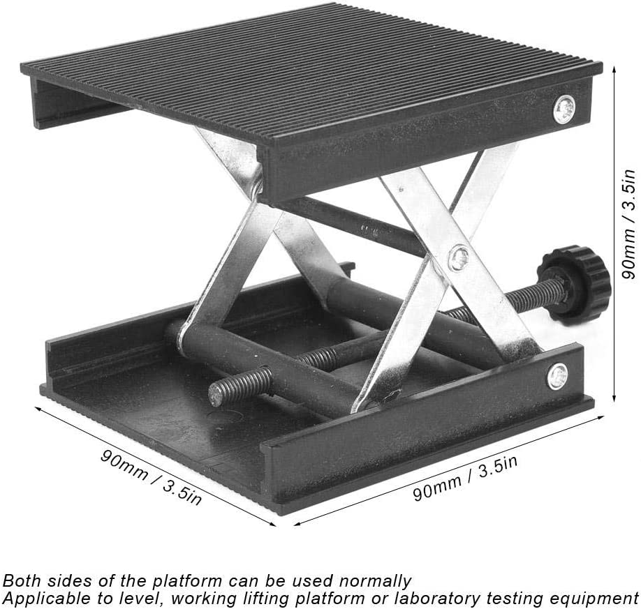 plaque en plastique et support m/étallique Support de plate-forme /él/évatrice pour niveau//laboratoire 90 x 90 mm Plate-forme /él/évatrice de laboratoire
