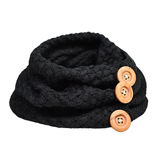 Bufanda Mujer, Youson Girl® Círculo Bufandas Mujeres invierno cálido dos botones de cable del círculo Knit Cowl Cuello Bufanda