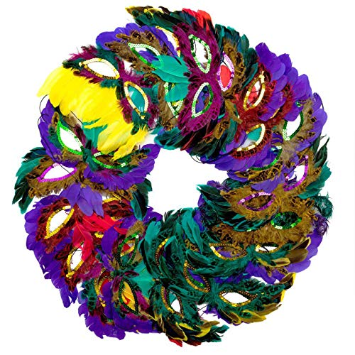 - Toy Grid Bulk Pack of 50 Fantasy Feather Masks, Mardi Gras Party Favors - Masquerade Mask Feathers, 12 Assorted Styles