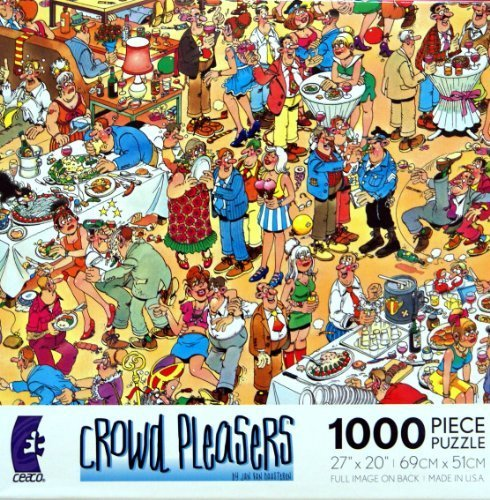 Crowd Pleasers HAPPY BIRTHDAY Puzzle 1000 Pieces Jigsaw Puzzle by Jan Van - Puzzles Jigsaw Cartoon