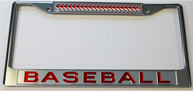 Style In Print Baseball Bats Sport Auto Car License Plate Frame Tag Holder 4 Hole
