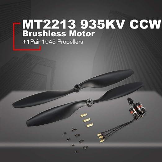 EMAX MT2213 935KV CCW Motor sin escobillas + 1045 hélices para ...