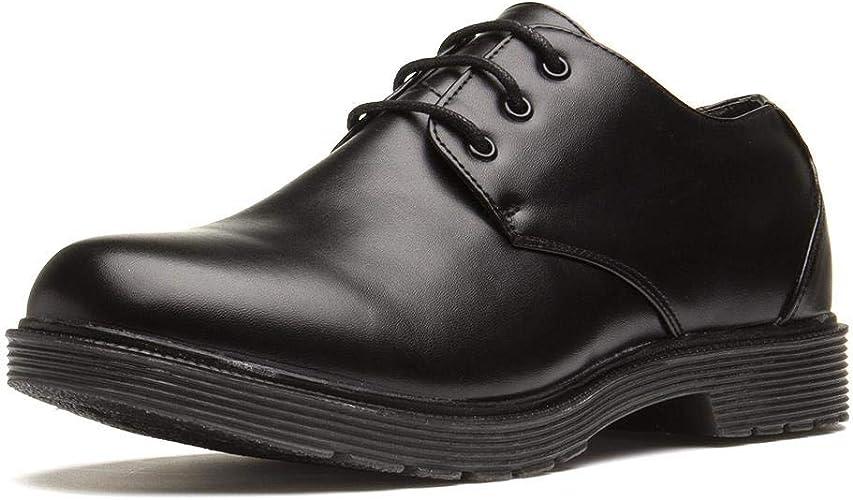 BECKETT Mens Black Plain Lace Up Shoe