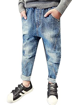e04a145cd02 Amazon.com  Lutratocro Boys Cute Basic Hipster Slim Simple Jeans Denim Pants   Clothing