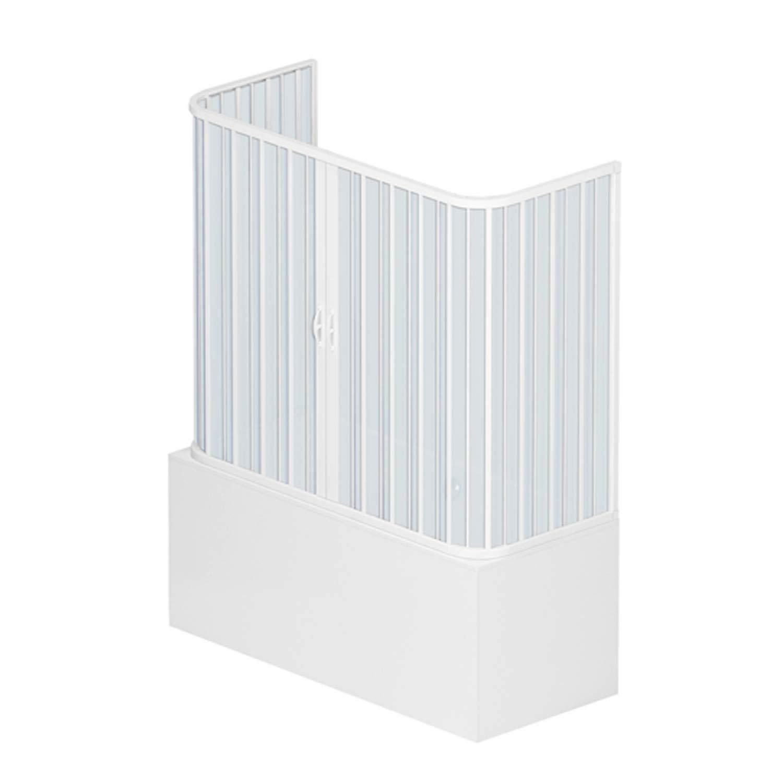 Box a 3 lati sopravasca 70x140 in PVC mod. Nicla con apertura centrale Bianco Pastello RL