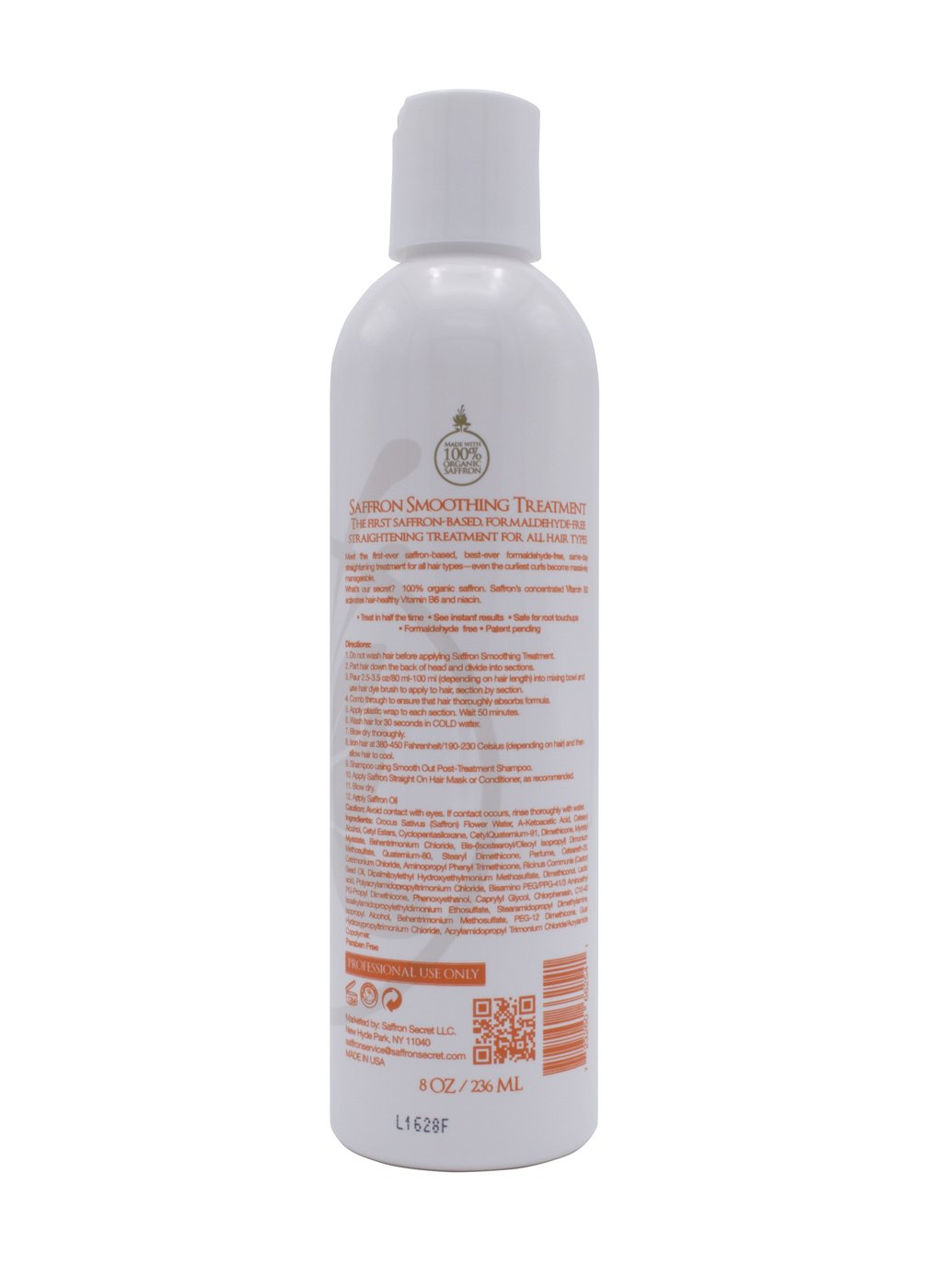 Saffron Smoothing Treatment - Formaldehyde Free (8 oz)