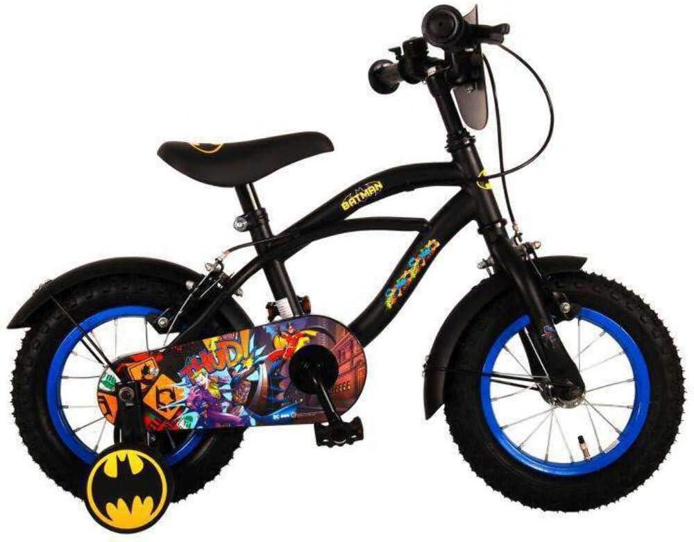 Batman - Bicicleta Infantil con Licencia, Color Negro Mate, 12