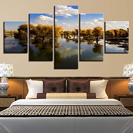 SCLWFJ Wulian Peinture Maison Moderne Chambre à Coucher ...