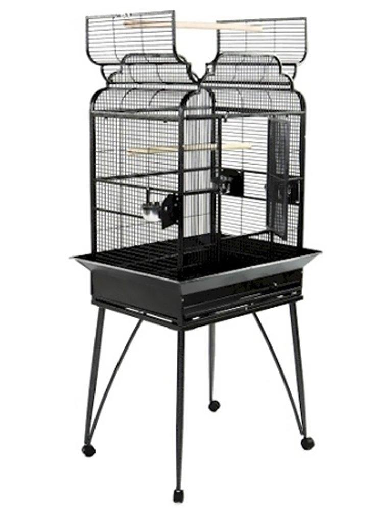 Black A&E Cage B-2217 Black Victorian Open Top Bird Cage, 22  x 17