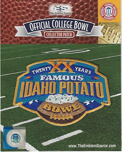 2016 Famous Idaho Potato Bowl 20th Anniversary Patch Idaho vs Colorado State