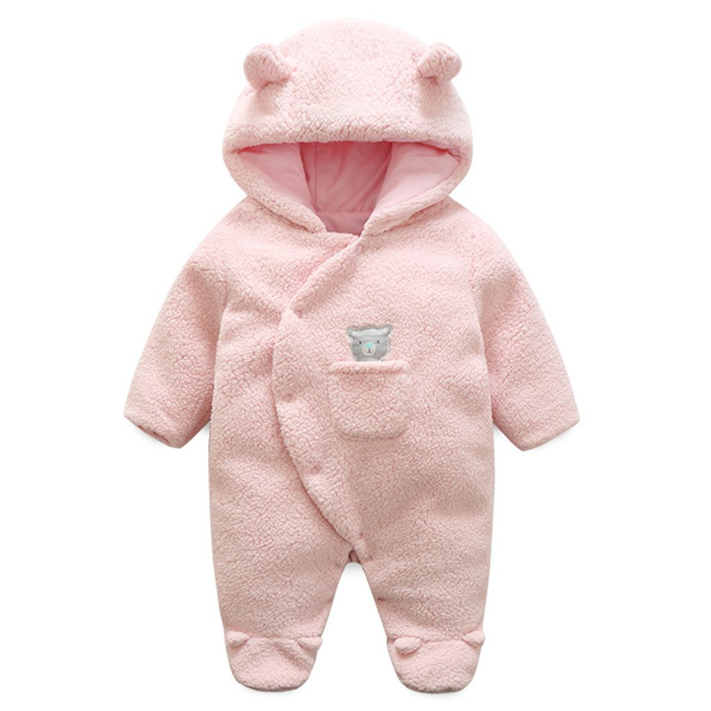 Baby Hooded Rompers Fleece Snowsuits Infant Onesies Jumpsuit Winter Outfits Vine Trading Co. Ltd C170718MY001V
