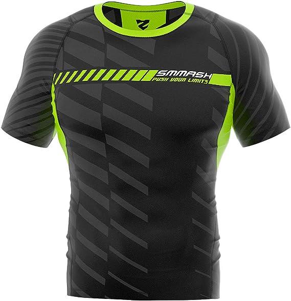Damen Kompressionsshirt Funktions Shirt Laufshirt Kurzarm Fitness Sport SMMASH