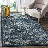 Cheap Safavieh Evoke Collection EVK512D Vintage Navy Beige Area Rug (9′ x 12′)