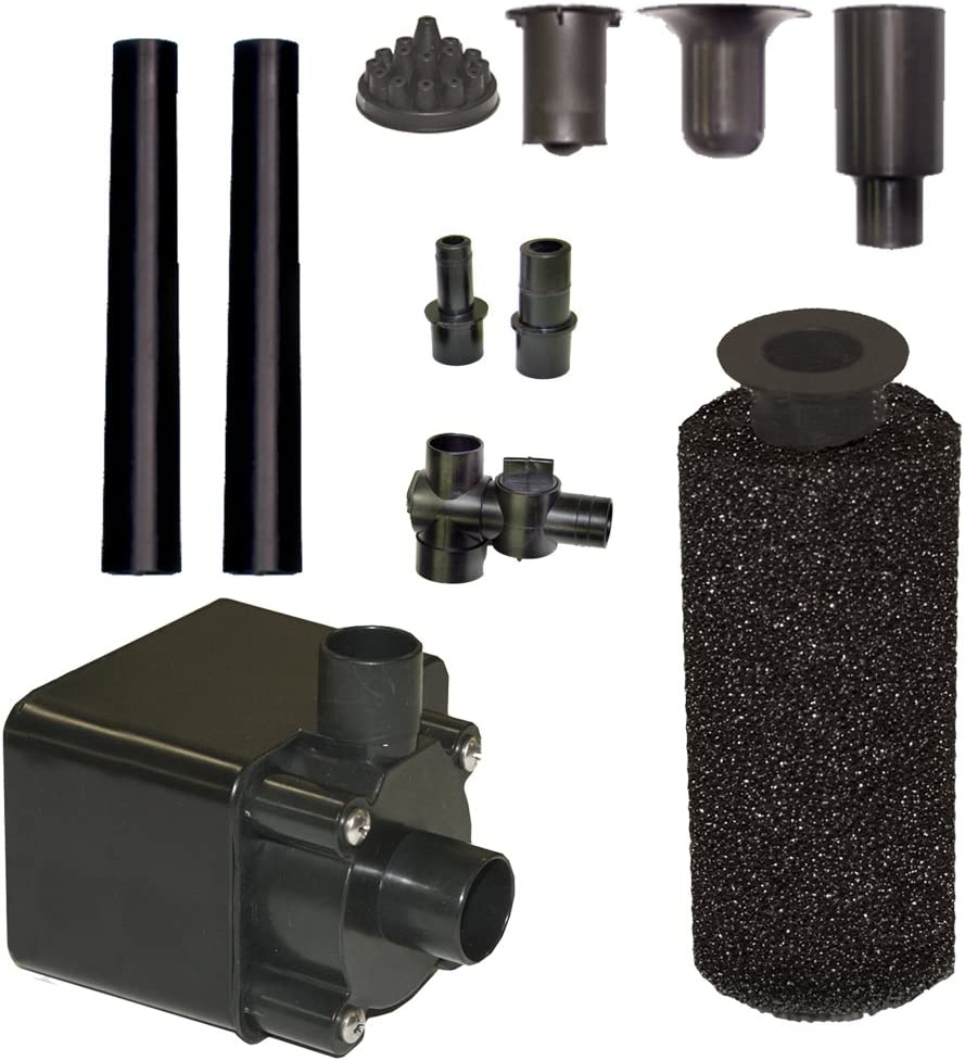 400 GPH Beckett Corporation Pond Pump Kit with Prefilter and Nozzles
