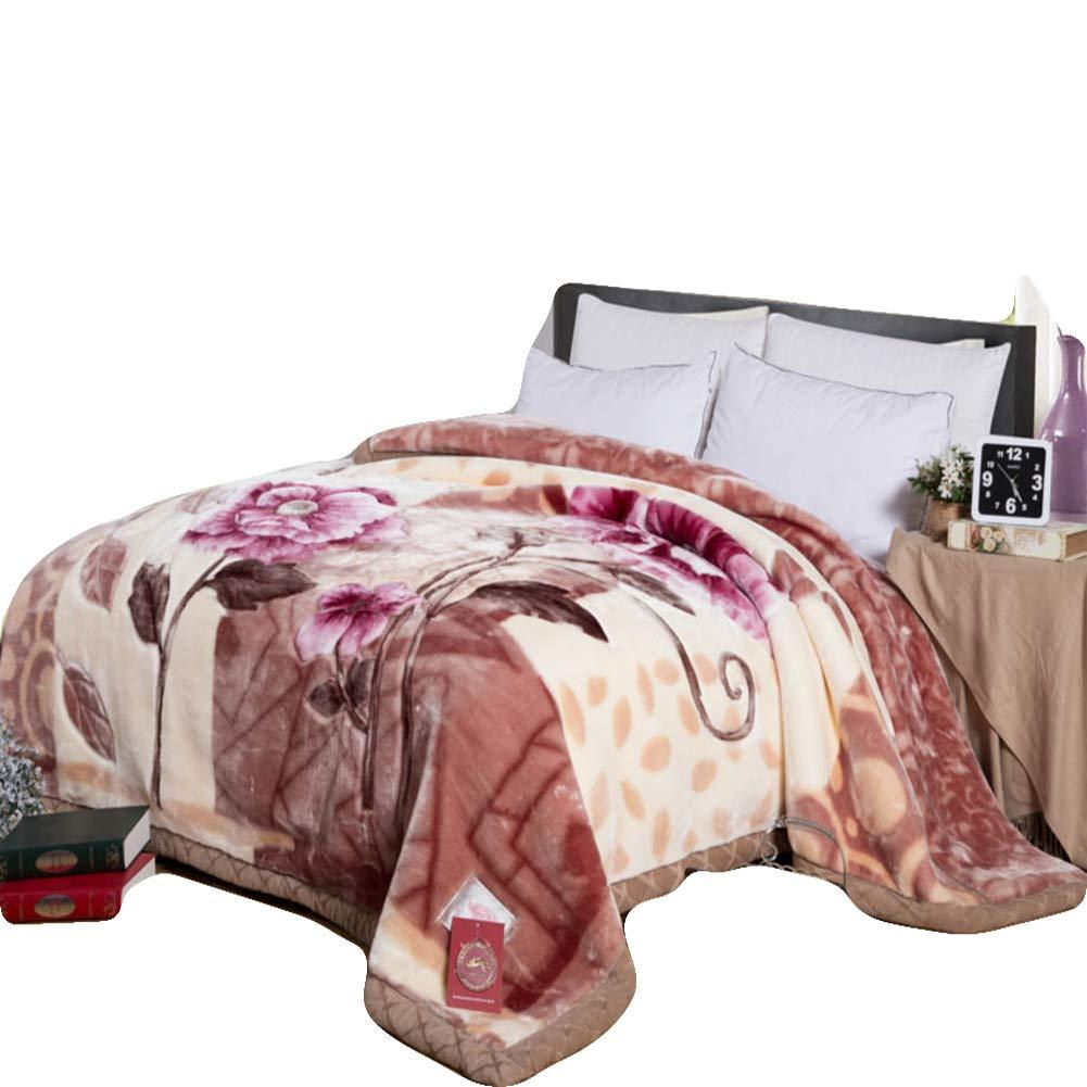 肥厚 印刷 シェルパ 毛布, 二重層 暖かい ウール フランネル毛布 ホーム ソファ 屋外 旅行 スーパーソフト 掛布-G 220x240cm(87x94inch) B07JVDNLW4 G 220x240cm(87x94inch)