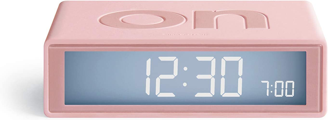 Travel Clock Black Lexon FLIP NEW