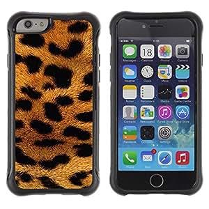 Suave TPU GEL Carcasa Funda Silicona Blando Estuche Caso de protección (para) Apple Iphone 6 / CECELL Phone case / / panther fur Africa animal pattern gold /