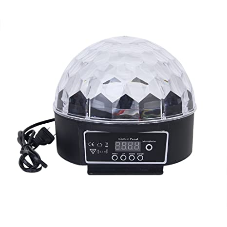 Prop It Up Plastic DJ Club Crystal Ball Stage Effect Light with US Plug  (Multicolour)