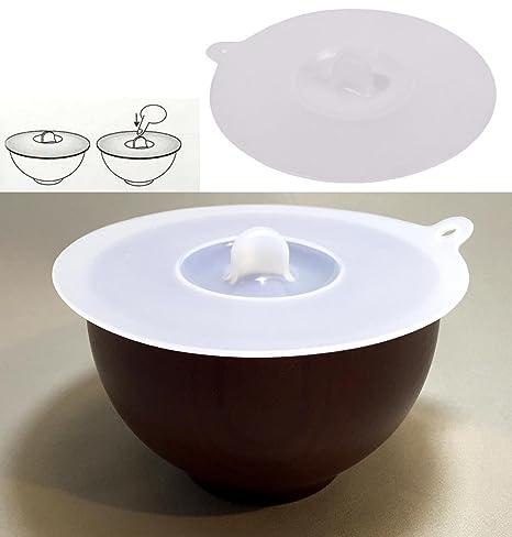 Takestop® Tapa para plato cuenco Tapón 12 cm hermético silicona ...