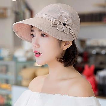 LIUXINDA-MZ Sombrero Sombrero  primavera - verano sol de verano sombrero  sombrero sombrero tejido de mediana edad sombrero sombrero playa 99e1ab41480