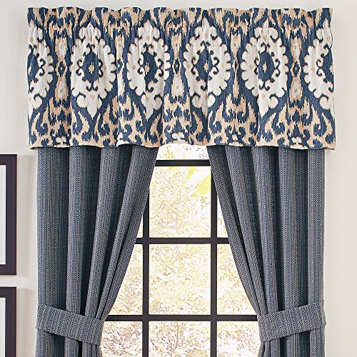 CROSCILL Kayden Tailored Valance, Blue