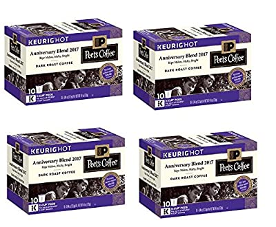 40 count - Peet's Coffee 49th Anniversary Blend K Cup Coffee for Keurig K-Cup Brewers and 2.0 Brewers