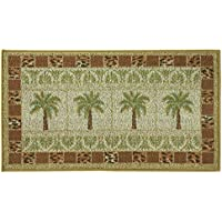 Classic Berber Accent Rug, Stain Resistant Rug, Skid Resistant, Oasis Grid, 40 x 22