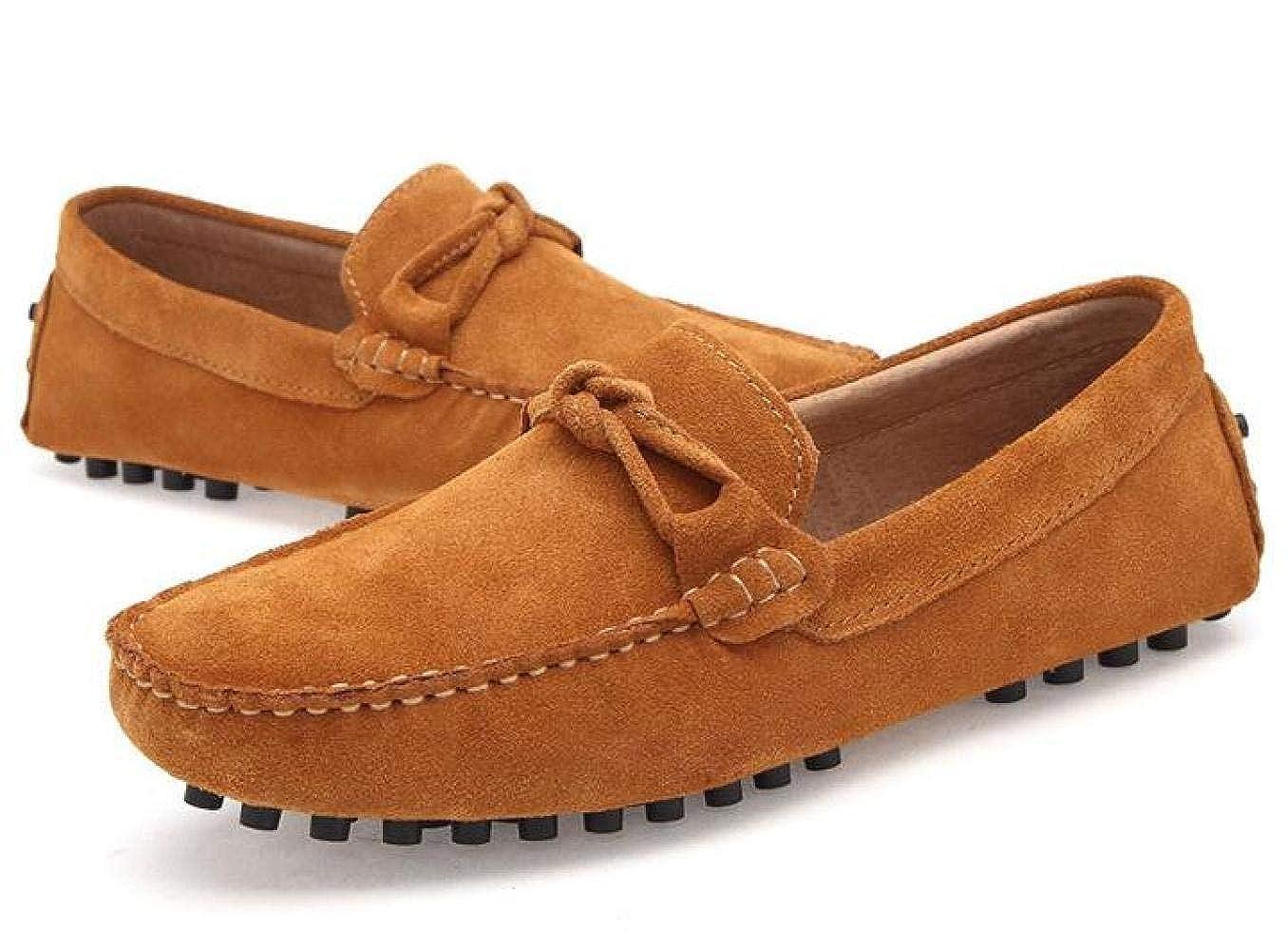 Peas Schuhe Driving Leder Herren Freizeitschuhe England Schuhe Mode Lazy Driving Schuhe Schuhe Herrenschuhe Braun 67f8e6