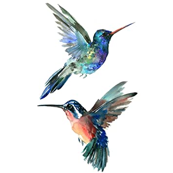 07fb179f34466 WYUEN 5 Sheets Bird Hummingbird Fake Tattoo Waterproof Temporary Tattoo  Sticker For Women Men Body Art 9.8X6cm FA-100: Amazon.co.uk: Beauty
