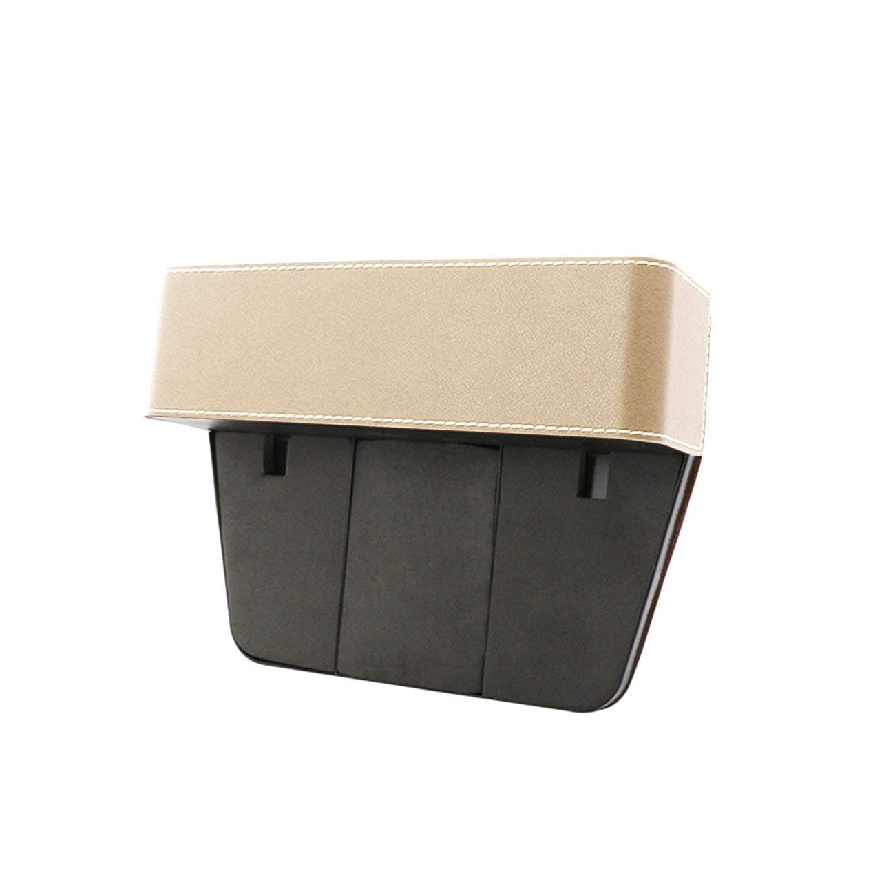 Jiobapiongxin Leather Car Seat Crevice Storage Box Seat Gap Organizing Box Seat Gap Filler