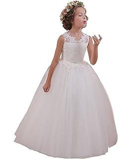 43ed671cdf Amazon.com  David s Bridal Flower Girl Communion Ball Gown Flower ...