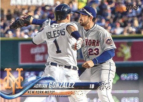 Amazon.com: 2018 Topps Series 2#575 Adrian Gonzalez New York Mets ...