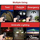 Parateck Remote Control 32 Feet Distance 27 White LED Umbrella Light 2 Level Brightness Dimming Lamp for Patio Tents Camping Outdoor