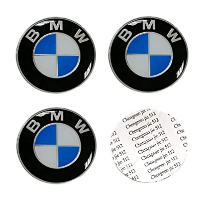 DIY1234 4PCS 56.5mm/2.2inch Auto Car Sticker Wheel Center Hub Cap Logo Aluminum fit for BMW: Automotive