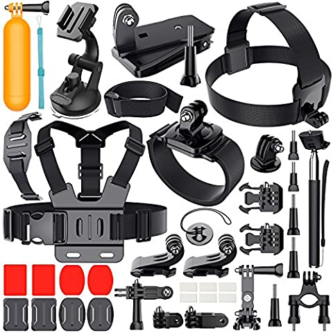 Erligpowht Outdoor Sports Combo Kit 40 accessories for GoPro HERO 4/3+/3/2/1 (Gopro Case And Accessories)