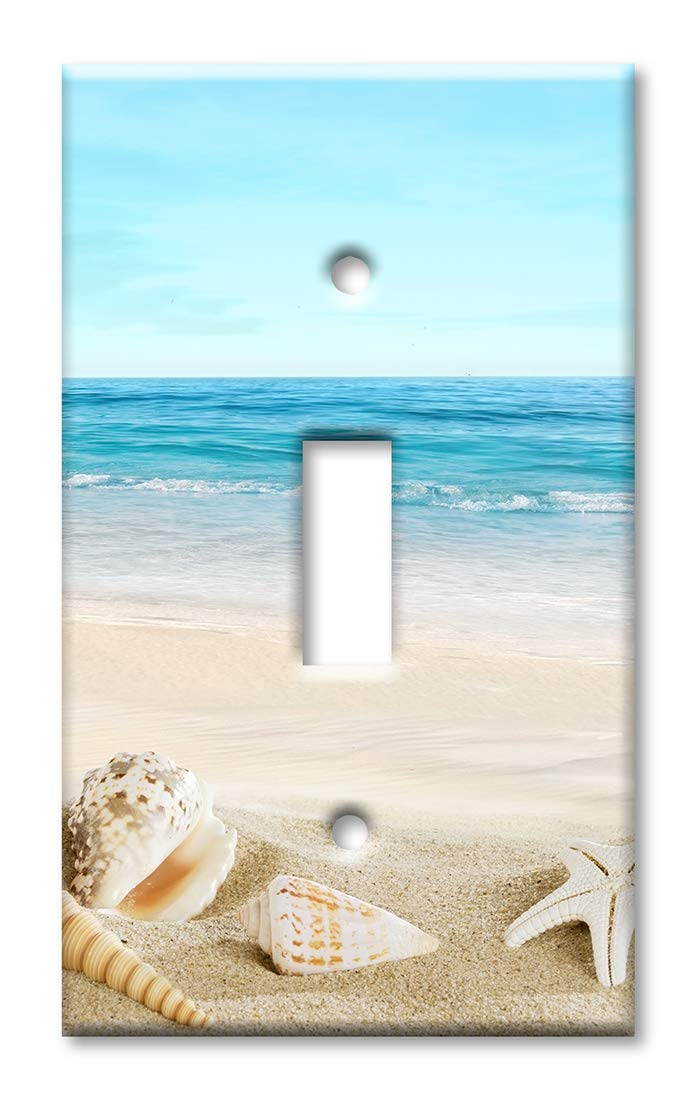 Art Plates 1 Gang Toggle Oversized Switch Plate Over Size Wall Plate Seashells On The Beach Buy Online In Isle Of Man At Isleofman Desertcart Com Productid 134134614