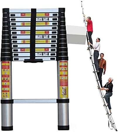 YTC Telescópica escaleras de Aluminio Multiuso portátil Ligero Escalera Recta for Ministerio Jardín Loft (Size : 3.2m): Amazon.es: Hogar